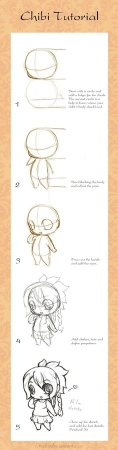 How to draw your own kawaii chibi art.