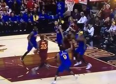 WATCH: LeBron James hammers home dunk over Draymond Green = The Cleveland Cavaliers and Golden State Warriors locking horns for the first time since the 2016 NBA Finals is the basketball Christmas present that has kept on giving. The game began with…..