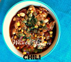 "It's chili season, can I get a hallelujah? It so amazing how a certain kind of food sets the mood for a season. When I think about chili, my mind fills with memories of family, crisp air, and Fall leaves. This white bean chicken chili will become one of your family favorites!  This recipe is … Continue reading ""White Bean Chicken Chili"" #white #bean #chicken #chili #recipe #dinner #Fall #yum #food #family"