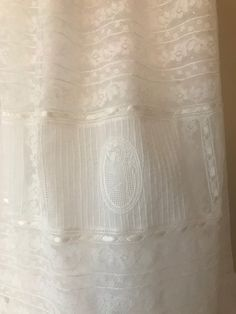 Christening gown made from her mother's first communion dress Sewing Tips, Sewing Hacks, Sewing Ideas, Sewing Patterns, Baptism Gown, Christening Gowns, Vintage Baby Clothes, Gingerbread Houses, Heirloom Sewing
