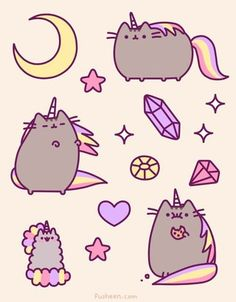 I've had a morbid curiosity about how Mr. Fat would look with the infamous inflatable cat unicorn horn. Pusheen is seriously fueling this curiosity. <-- this is just really funny Kawaii Pusheen, Gato Pusheen, Pusheen Love, Chat Kawaii, Kawaii Cat, Kawaii Shop, Cat Unicorn Horn, Unicorn Pics, Unicorn Kitty