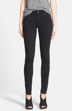 Free shipping and returns on Hudson Jeans 'Collin' Supermodel Skinny Jeans (Black) at Nordstrom.com. Saturated black-denim skinny jeans with high-recovery stretch construction are branded by Hudson's signature triangle-flap back pockets.