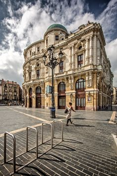 Arriaga theater from Bilbao, Euskadi, Basque Country, Spain by Joseba Herrero Places Around The World, Travel Around The World, Around The Worlds, Monuments, Places To Travel, Places To See, Spanish Courses, Basque Country, Balearic Islands