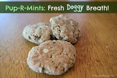 These Pup-R-Mints Homemade Breath Freshening Dog Treats are chock full of ingredients that are healthy for your pup. There are no mystery ingredients here. Coconut oil is excellent for overall skin health, improves digestion and nutrient absorption, balances insulin, and is thought to aide in reducing bad doggy breath- many dog experts brush their dog's …
