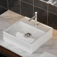 details zu waschtisch waschbecken aufsatzwaschbecken aufsatz eckig 80 x 42 cm weiss neu. Black Bedroom Furniture Sets. Home Design Ideas