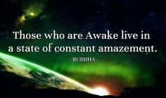Those who are Awake live in a state of constant amazement.