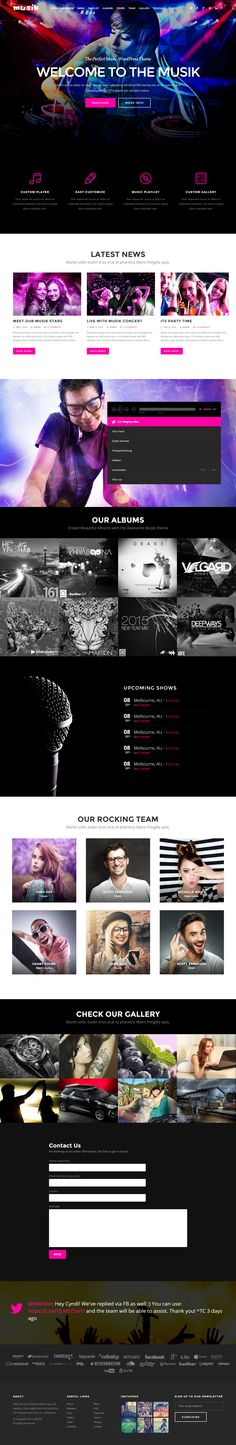 Musik is Premium Responsive Retina Parallax #HTML5 Multipurpose template. Video Background. #SinglePage. #Bootstrap3Framework. Test free demo at: http://www.responsivemiracle.com/musik-premium-responsive-music-bands-artists-clubs-onepage-html5-template/