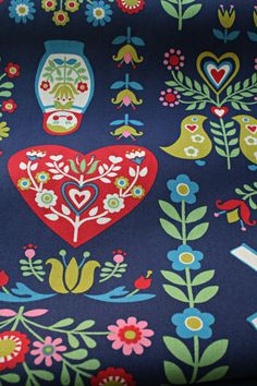 I love this Scandinavian print fabric