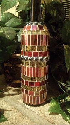 Mosaic Wine Bottle on Etsy!