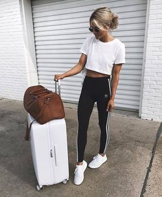 Airport Fashion Travel Outfits Ideas To Upgrade Your Look … – comfy travel outfit summer Cute Travel Outfits, Comfy Travel Outfit, Winter Travel Outfit, Travelling Outfits, Summer Travel, Traveling, Comfy Outfit, Holiday Travel, Summer Airplane Outfit