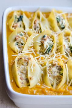 BUTTERNUT SQUASH & SAUSAGE STUFFED SHELLS from Rachel Schultz