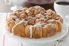 Drizzled with glaze and topped with toasted pecans, this pull-apart coffee cake looks like it came from a bakery. Wait until they find out you made it!