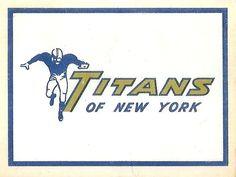 1960 AFL Team Logo Decal - New York Titans