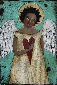 Mixed Media Angel.....  ♥