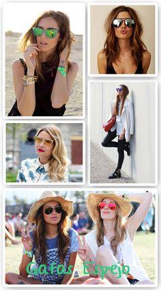 Guía definitiva para llevar las gafas de sol de espejo con estilo. Consigue  dar un toque diferente a tus looks de verano con el complemento de la  temporada. acda981d59ff