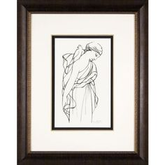 Phoenix Galleries Woman with Dove II Framed Print - HPM99