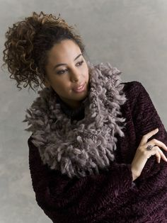 Tolstoy Faux-Fur Cowl in COYOTE    http://www.ravelry.com/patterns/library/tolstoy-faux-fur-cowl