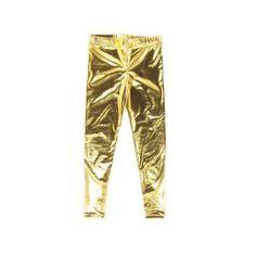 f6ab5f8da95d3e Girls Gold Metallic Leggings. Gold Leggings, Pajama Pants, Metallic, Sleep  Pants. Liberty Lark