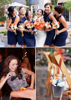 OUTDOOR DIY CALIFORNIA WEDDING | Jessica Burke San Francisco Wedding Photographer | Blue and Orange Color Palette | The Knotty Bride™ Wedding Blog + Wedding Vendor Guide