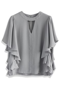 Krásný top Chickwish  v pěkné šedé barvě Blanka Straka