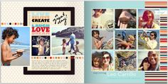 Capturing a family outing to the beach - pages from my Project Life 2012 Shutterfly photobook.