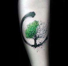 Green And Black Paint Brush Stroke Guys Amazing Tree Of Life Forearm Tattoos tat .Green And Black Paint Brush Stroke Guys Amazing Tree Of Life Forearm Tattoos tattoos for women - Tattoos - AMAZING Black Diy Tattoo, Tattoo Life, Brush Tattoo, Tree Of Life Tattoos, Tattoo Shop, Trendy Tattoos, Small Tattoos, Tattoos For Guys, Tattoos For Women