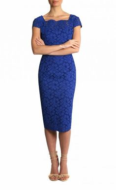 Cobalt Paradiso Lace Dress