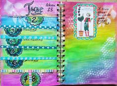 Week 23 Planner pages.