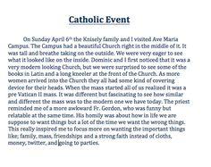 Catholic Event- Ave Maria
