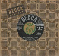 HANK PENNY SUE THOMPSON Come A Little Bit Closer COUNTRY BOPPER 45 RPM RECORD