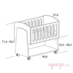 Micuna de colecho BBCUs Baby Crib Diy, Baby Shawer, Baby Box, Cribs For Small Spaces, Newborn Bed, Home Decor Shelves, Woodworking Wood, Baby Furniture, Baby Crafts