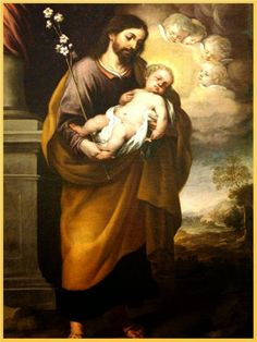 Joseph with the Child, 1684 Pictures Of Jesus Christ, Religious Pictures, Christian Warrior, Christian Art, Catholic Art, Religious Art, San Joseph, Catholic Wallpaper, Jesus Father