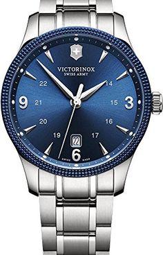 Blau-silberne Herrenuhr Victorinox Alliance mit elegantem Design -https://herrenuhren24.net/armbanduhr/victorinox-alliance-241711-1-herrenuhr/ #victorinox #uhren