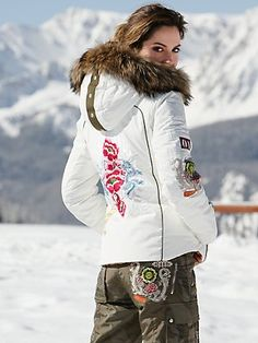 If money were no object, I'd succumb to this parka with gorgeous Asian-inspired embroidery.