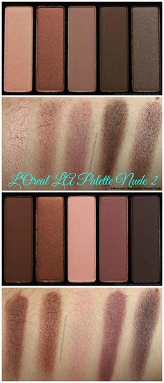 L'Oreal LA Palette Nude 2 Eyeshadow Palette Pics and Swatches