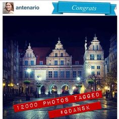 26.11.2012 @antenario 12 000 photos with #Gdansk tag. Congrats to all #igers in #gdańsk #poland #igersgdansk #igerspoland #beautiful #instamood #instagood #ingdansk #pomorskie #danzig #polonia  (at Długi Targ)