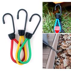Sale 13% (2.29$) - IPRee® 15cm Multi-purpo Tent Elastic Rope Buckle Tent Retractor Pull Ground Nail for Camping Hiking