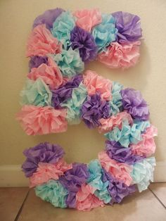 Tissue paper craft, tissue paper birthday