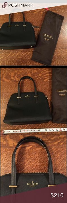 """Kate Spade Cedar Street Maise NWOT🌹OFFERS WELCOME NWOT. Always been in dust bag. Protective paper still on the crossbody leather. Features Leather Imported Synthetic lining Zipper closure 8.25"""" shoulder drop 10.5"""" high 13.5"""" wide Structured handbag with wraparound double zipper, logo with spade emblem, and metallic hardware feet Tonal flat shoulder straps. Smoke free home.  Next day shipping. Please feel free to ask any questions. Thank you for shopping my closet. Offers always welcome❤️…"""