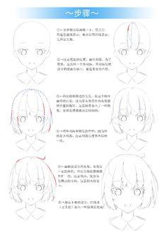 Drawing Hair Tutorial, Manga Drawing Tutorials, Art Tutorials, Reference Manga, Body Reference Drawing, Comic Tutorial, Manga Tutorial, Manga Hair, Anime Hair