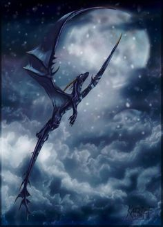 A dragon soars over the cold Valhencian sky.
