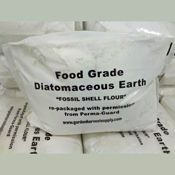 Diatomaceous Earth, Food Grade—5-lb. Bag by Perma-Guard™ is Mother Nature's product and is safe for the environment, pets, and people. Commonly called Fossil Shell Flour, it is used as an organic insecticide, pesticide, as an internal wormer, for parasite removal in both humans and animals, and for many other uses.   Price $11.00