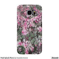 Pink Splash Photo Samsung Galaxy S6 Cases