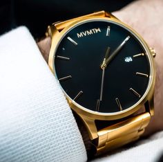 Compliments guaranteed. Gold x Black Watch.