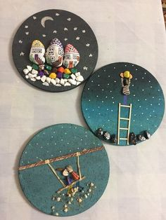 Stone Crafts, Rock Crafts, Arts And Crafts, Paper Crafts, Pebble Painting, Pebble Art, Stone Painting, Diy Crafts For Home Decor, Diy Crafts To Sell