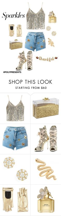 """""""#PolyPresents: Sparkly Beauty"""" by redbone1961114 on Polyvore featuring beauty, Alice + Olivia, Chiara Ferragni, Giuseppe Zanotti, Bony Levy, Gucci, Marc Jacobs, contestentry and polyPresents"""