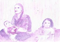 Mother, daughter, son :: NDS Art Cards :: from the artist to your letter box