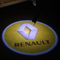 2 PZ LED proiettore laser di Marchio dell'automobile Dell'ombra Del Fantasma Della Luce universale misura Per Renault Koleos Laguna Duster Megane Sandero Clio Latitude