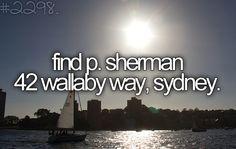 find P. Sherman 42 Wallaby Way Sydney