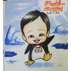 【frog.at】さんのInstagramをピンしています。 《ペンギン サンプル!! #似顔絵#似顔絵師篤志 #篤志 #イラスト#ペンギン#海#氷#横浜#八景島シーパラダイス #子供#コスプレ#誕生日#記念日プレゼント》